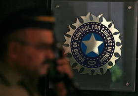 File: A policeman walks past teh BCCI headquarters during a governing council meeting of the Indian Premier League (IPL) at BCCI headquarters in Mumbai