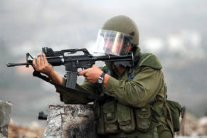 Israeli security forces use tear gas and plastic bullets during the clashes with Palestinians in Ramallah, West Bank on October 31, 2014.