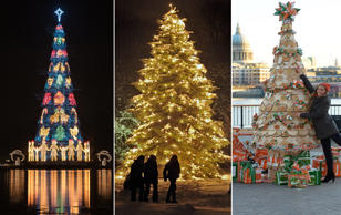 Beautiful and unusual christmas trees