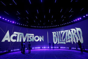 The Activision Blizzard Booth is seen during the Electronic Entertainment Expo in Los Angeles, Thursday, June 13, 2013.