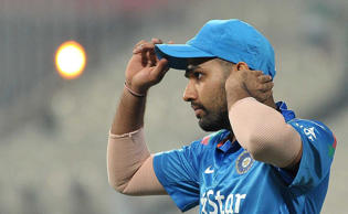 Indian cricketer Rohit Sharma during the 4th ODI between India and Sri Lanka at the Eden Gardens in Kolkata, on Nov 13, 2014.