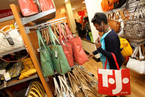 A customer shops at a TJ Maxx store in Washington, DC.