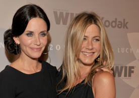 Jennifer Aniston is godmother to her friend Courteney Cox's daughter, Coco.