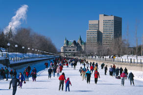 Every winter Ottawa hosts the Winterlude Festival, a celebration of the season and the home of the longest outdoor ice-skating venue, the Rideau Canal . The festival runs from January 31 to February 17, and includes outdoor concerts, toboggan races, and ice sculptures.