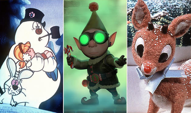 Slide 1 of 9: (From left) Frosty the Snowman, Wayne in 'Prep & Landing' & Rudolph the Red-Nosed Reindeer   CBS Entertainment.Classic Media/AP; Disney via Getty Images; REX/Everett Collection