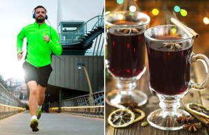 Half an hour of jogging can kill calories gained from one glass of mulled wine