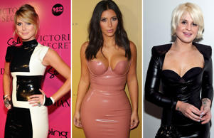 With Kim Kardashian arriving to promote her new fragrance Fleur Fatale in a revealing latex dress, let's take a look at some other celebrities to have worn latex dresses at various events.