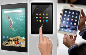 With high-end components, sleek design and the latest Android 5.0 Lollipop, Nokia's latest tablet N1, launched on November 18th, 2014 looks set to take on two other popular tablets around – Google Nexus 9 and Apple's iPad Mini 3. Let's take a look how they stack up?