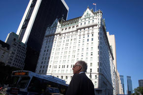 A general view of the Plaza Hotel in the Manhattan borough of New York August 18...