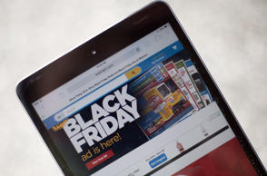 A 'Black Friday' advertisement for Walmart is seen on an iPad.