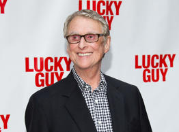 "This April 1, 2013 file photo shows director Mike Nichols at the ""Lucky Guy"" opening night in New York."