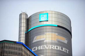 he General Motors Co. (GM) Renaissance Center stands before the company's annual...