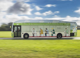 UK's first ever bus to run on human waste launched, Britain - Nov 2014