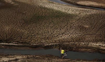 Brazil drought dries up the reservoirs which supplies water to Sao Paulo, it has been considered as a worst drought in eight decades. An imagery which gives you look at the dramatic critical situation in Brazil.