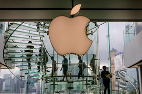 The exterior of the downtown Apple Store in Central Hong Kong is viewed on May 27, 2014, in Hong Kong, China.