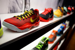 Nike shoes on display at a Foot Locker Inc. store inside the South Park Mall in Strongsville, Ohio, U.S. on Tuesday, Mar. 4, 2014. Foot Locker's earnings are scheduled to be released on March 7. Luke Sharrett/Bloomberg Finance