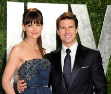 Tom Cruise and Katie Holmes arrive at the Vanity Fair Oscar party, in West Hollywood, Calif. Cruise and Homes called it quits after five years of marriage. Holmes' attorney Jonathan Wolfe said Friday June 29, 2012 that the couple was divorcing.