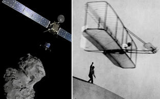 One of the most exciting thing to happen in mankind's latest achievement is space probe Rosetta successfully ending its decade long chase of the moving target comet 67P, and module Philae landing on it. Let's take a look at man's other greatest technical achievements over the centuries.