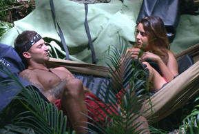 I'm A Celeb: flirt off between newcomer Jake and Nadia