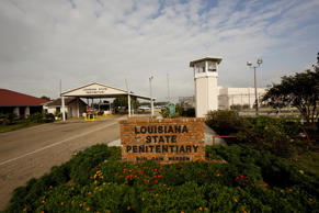 Entrance to the Louisiana State Penitentiary in Angola, La.