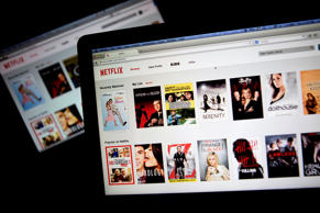 The Netflix Inc. website is displayed on laptop computers in this arranged photograph in Washington, D.C.