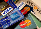 American Express, Discover, MasterCard and Visa credit cards.