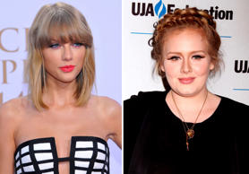 These two singers are age apart by only one year! Taylor Swift is 25 years old, while Adele is 26.