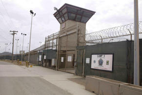 In this June 7, 2014 file photo, the entrance to Camp 5 and Camp 6 at the U.S. military's Guantanamo Bay detention center at Guantanamo Bay Naval Base, Cuba.