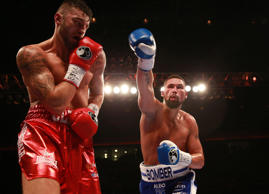 Bellew misses with a right