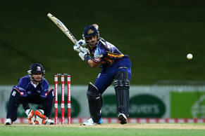 Ryan ten Doeschate of the Otago Volts bats during the Domestic Twenty20 match between Otago Volts and the Auckland Aces at Seddon Park on November 1, 2014 in Hamilton, New Zealand.