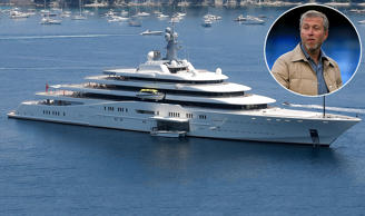 Roman Abramovich and his superyacht