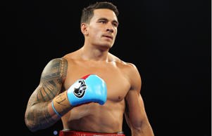 Sonny Bill Williams enters the ring in his fight against Francois Botha in 2013.