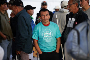 Eduardo Vidal, 36, waits with others for a breakfast meal at the Padre Chava migrant shelter Wednesday, Nov. 19, 2014, in Tijuana, Mexico. Vidal was deported from the United States Nov. 6 from Palmdale, Calif., where he lived with his wife and five children.