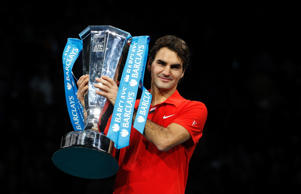 Federer has won record six ATP World Tour Finals titles (2003–04, 2006–07, 2010–11)