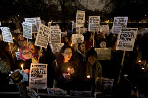 Thousands protest at US embassy in London over Ferguson case