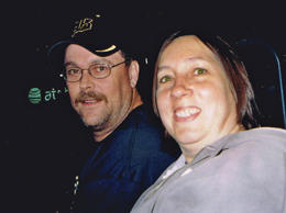 In this photo provided by the family of Colleen Hufford, K.C. Hufford, left, and Colleen Hufford, right, are pictured in an undated photo. Colleen Hufford was killed in a workplace violence incident.