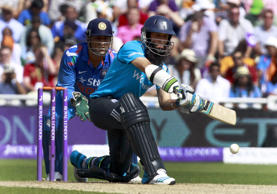 File: English batsman Moeen Ali in action during 4th ODI match between England and India in Birmingham, England on Sept 2, 2014.