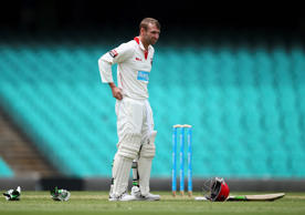 Phil Hughes of South Australia looks on during day one of the Sheffield Shield match between New South Wales and South Australia at Sydney Cricket Ground on November 25, 2014 in Sydney, Australia.