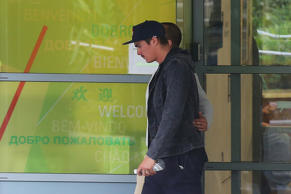 Sean Abbot walks out of St Vincent's Hospital on November 27, 2014 in Sydney, Australia.