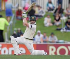 Australian batsman Phillip Hughes during a Test match  in Hobart on Sunday Dec. 11, 2011.