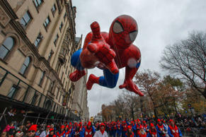 The Spiderman balloon floats down Central Park West during the 88th Macy's Thanksgiving Day Parade in New York November 27, 2014.