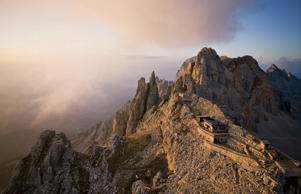 You'll have to hoof it to Rifugio Torre di Pisa , a hostel nestled in the Italian Dolomites (and named for a nearby peak said to resemble the Leaning Tower of Pisa.