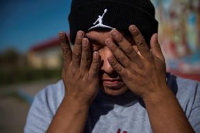 Anthony Ghost-Redfeather, 18, is shown on Pine Ridge in South Dakota, on Saturday, October 25, 2014. The teenager has attempted suicide.