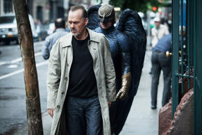 'Birdman' Film - 2014 from left: Michael Keaton, Benjamin Kanes