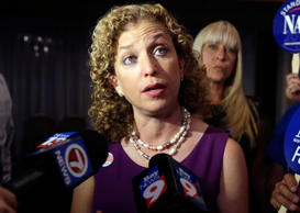 Democratic National Committee Chairwoman, Rep. Debbie Wasserman Schultz, speaks ...