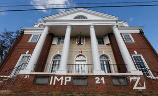 The Phi Kappa Psi fraternity house at the University of Virginia in Charlottesville, Va.