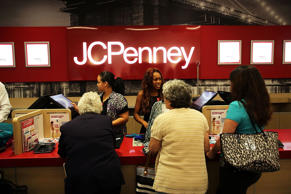 Customers check-out at the newly opened J.C. Penney store at the Gateway Center Mall in Brooklyn, the retail company's first Brooklyn store in New York City.  Spencer Platt/Getty Images