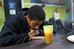 Tony, who is currently living at a shelter run by the Bethesda Project, pauses during dinner on October 22, 2014 in Philadelphia, Pennsylvania. The program for homeless men is run by the Bethesda Project which serves more than 2,500 homeless and formerly homeless men and women each year at 14 sites throughout Philadelphia. One of the nation's largest and most historic metropolitan areas, Philadelphia has become the poorest big city in America. It also has the highest rate of deep poverty in America - those with incomes below half of the poverty line - of any of the nation's 10 largest cities. While much of downtown Philadelphia is vibrant with exceptional restaurants, museums and nightlife, many areas immediately outside the center are mired in multi-generational deep poverty.
