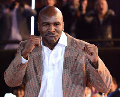 Evander Holyfield is evicted from the Celebrity Big Brother house at Elstree Studios on January 10, 2014 in Borehamwood, England.