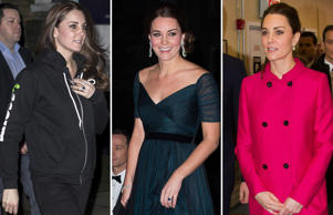 Click through the images to check out Duchess of Cambridge's pregnancy fashion choices.